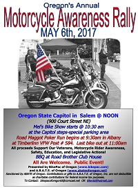 2017 Oregon motorcycle awareness rally bikepac ABATE capitol Salem